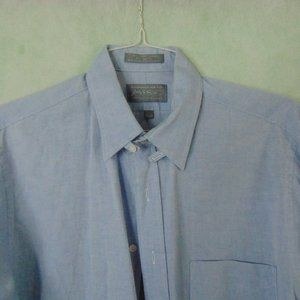 Men Dress Shirt Blue Size 16 1/2-36